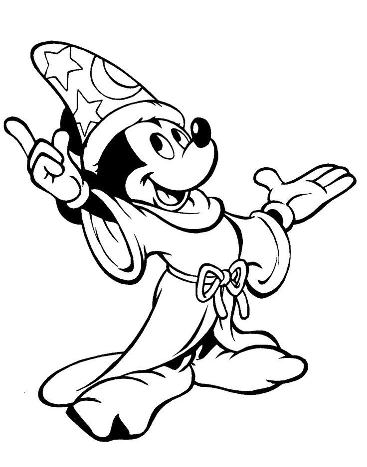 mickey mouse print out coloring pages