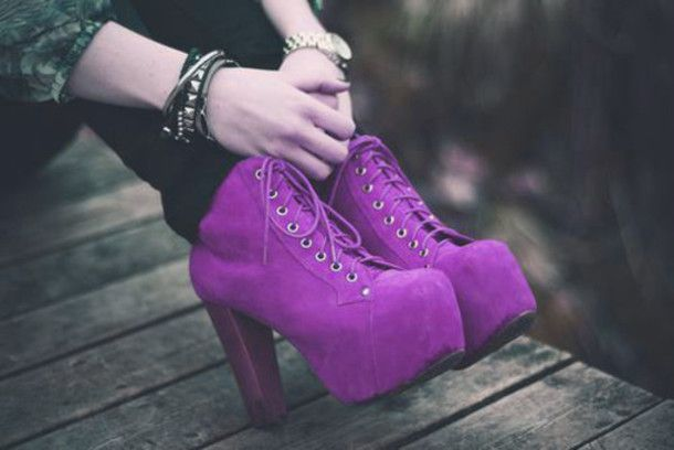 shoes heels high heels boots heel boots purple lace purple boots purple heels chunky chunky heels platform shoes platform shoes platform heels platform boots pretty casual outerwear
