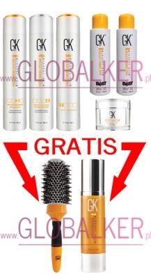 GKhair Keratin Treatment set THE BEST 200ml. Global Keratin Juvexin sklep warszawa. Oferta dla salonów Free Brush and Serum