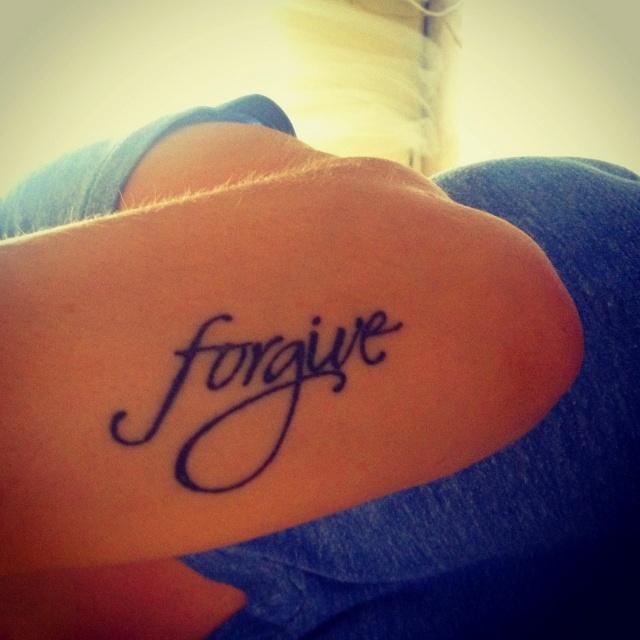I choose to forgive ...tattoo ideas