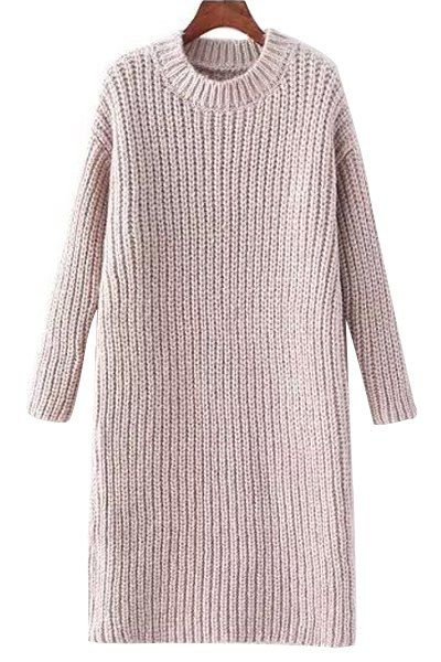 Solid Color Mock Neck Thicken Sweater Dress