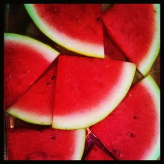 Watermelon Margarita Slices a la Country Tart: Soaked in tequila and triple sec and sprinkled with sea salt and lime zest, these are a grown up yet fun slice of summer!
