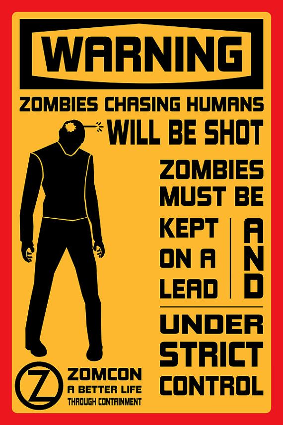 Control Your Zombies 18x24 Fido Movie Poster by MarkItZeroNET, $30.00