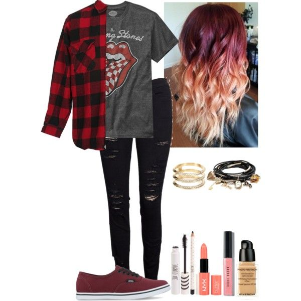 Punk Rock<<< what the hell happened to punk rock?! Like this isn't punk rock at all. It's just some grunge outfit. Punk rock is def not this. I don't even know what to do anymore :,(
