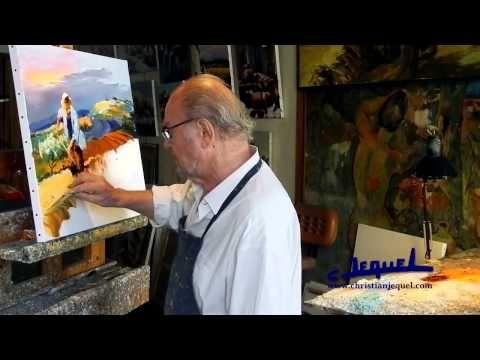 """▶ 01 - Démonstration de peinture au couteau par Christian Jequel: """"Moisson"""" - YouTube"""
