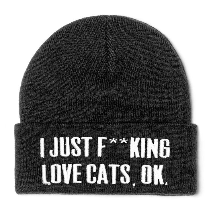Cats unisex beanie #love www.attitudeholland.nl