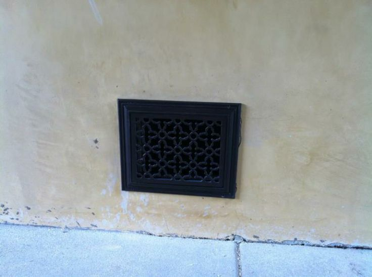 Outdoor foundation vent grille cover decorative vent for Exterior vent covers