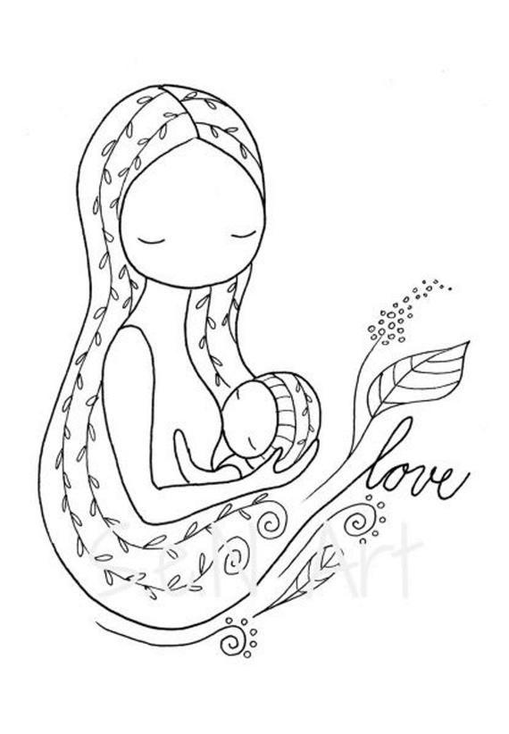 Breastfeeding Poster Breastfeeding Art Breastfeeding Print
