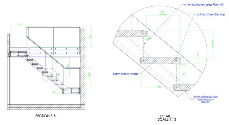 Technical Drawing of Feature Staircase 2