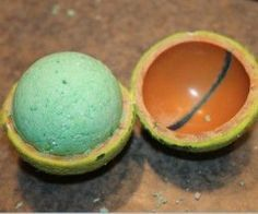 Bath bombs recipe, and using a tennis ball to mold them