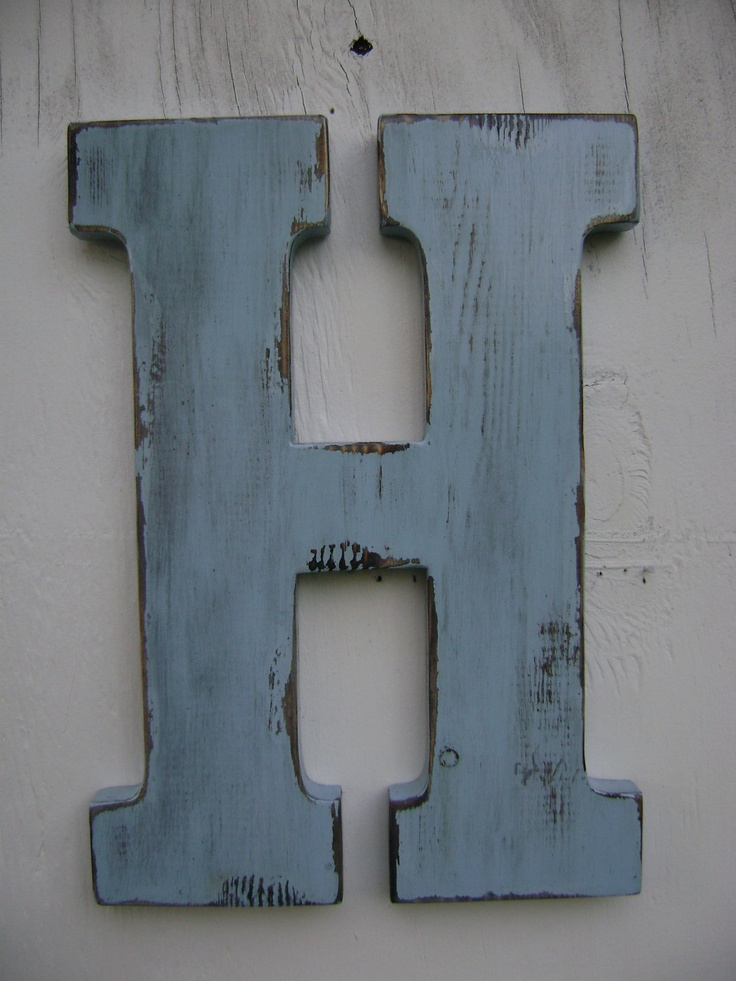 Wooden letter - Decorative wooden letters for walls ...