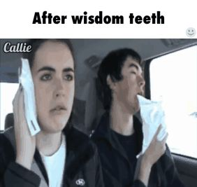 """I can't feel my neck"" ""I found your neck"" xD funny wisdom teeth video"