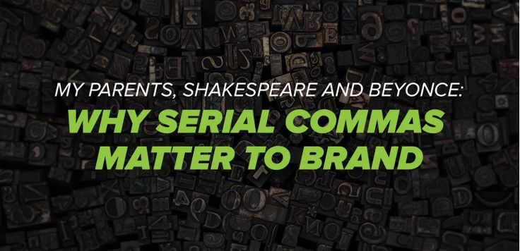 For or Against Oxford Commas? Here's why it matters to brand | #marketing #writing