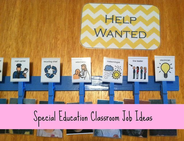 Classroom Job Ideas Elementary ~ Best images about special education classroom ideas
