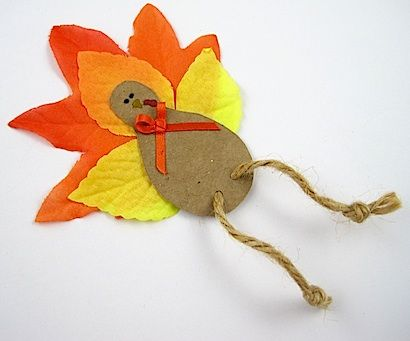 Mommy Solution #3-Crafty Journal shared her fun craft-Fall Leaf Turkey Magnet which is a fun mommy resource to make when the kids are getting stir crazy next week!