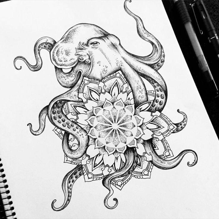 Top 5 Octopus Tattoo Ideen mit Bedeutungen und Best Gallery Hand Picked! -,  #Bedeutungen #Ga…