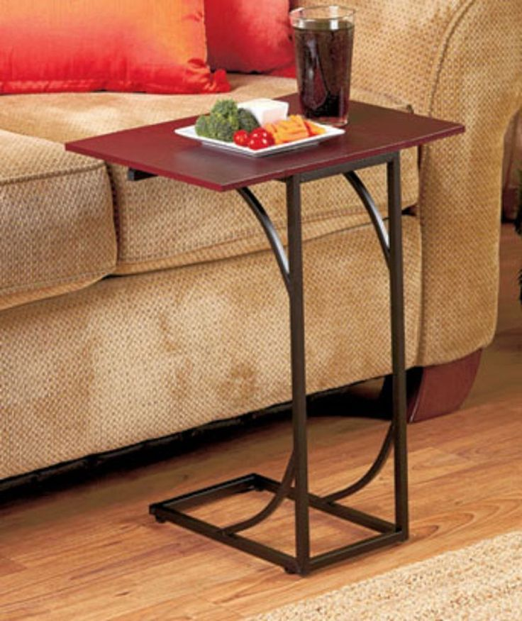Side sofa table accent table end eating food tray sick for Eating table