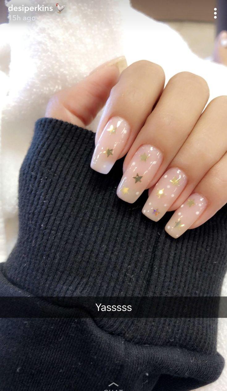Cute Acrylic Nails, Star Nails, Cute Nails