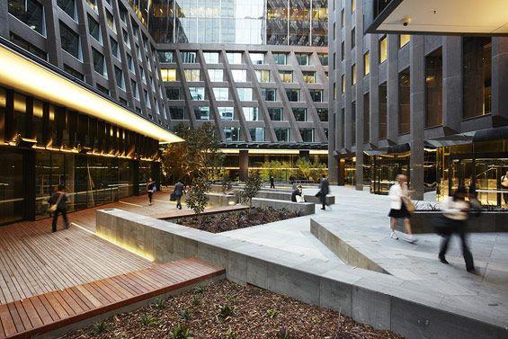 St james plaza melbourne australia aspect studios for Residential landscape architects melbourne
