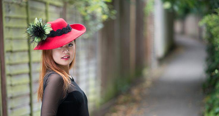 Women Red Felt Hat