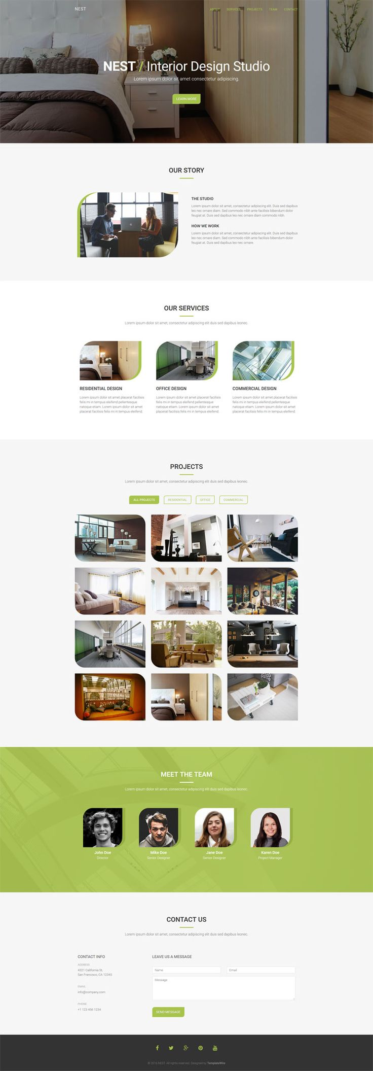 Free Interior Design HTML Bootstrap Template
