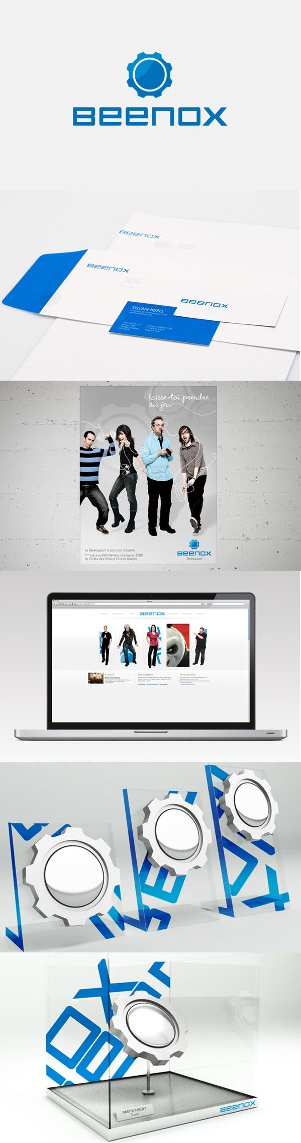 Client : Beenox - Campagne institutionnelle, design graphique, design industriel, image de marque, outils corporatif, site web.