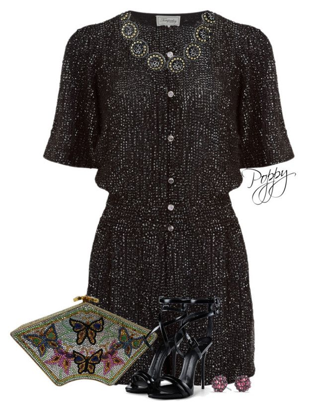 """Evening Playsuit"" by bainbridgegal ❤ liked on Polyvore featuring Temperley London, Judith Leiber, John Hardy, Giuseppe Zanotti and David Yurman"