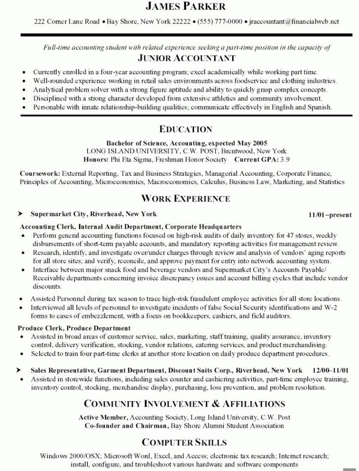 Clerk Accounting Resume
