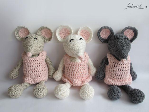 süße kleine gehäkelte Maus Pippa Amigurumi