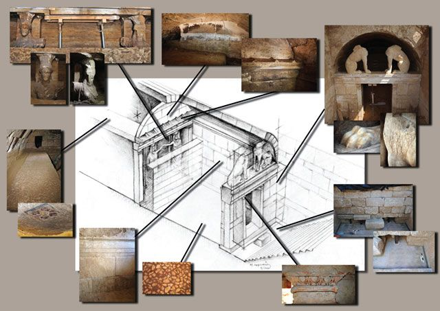 UNDERGROUND LABYRINTH FOUND IN THE TOMB OF AMPHIPOLIS