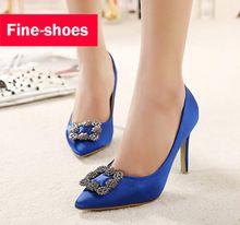 Tamanho 35-39 Novo 2016 de Alta Qualidade Sapatos de Casamento de Moda Strass Mulheres Bombas de Salto Alto Sapatos de Festa 864(China (Mainland))