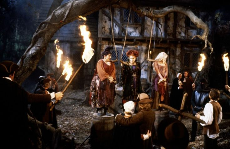 """This is what happens when you, ...""""spend a quiet evening at home.""""- Mary  """" Sucking the lives out of little children."""" -Sarah  Hocus Pocus. 1993"""