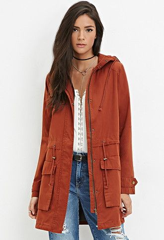 Longline Hooded Utility Jacket | Forever 21