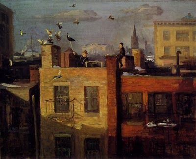 """Pigeons,"" 1910, John French Sloan (1871 - 1951)"
