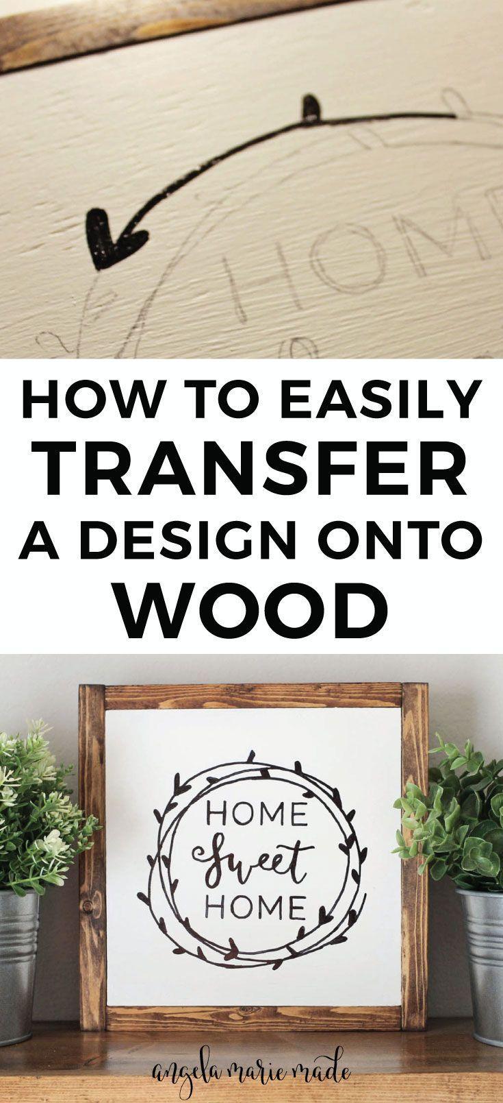 So übertragen Sie ein Design einfach mit einem Bleistift auf Holz! Einfache DIY Holzschild