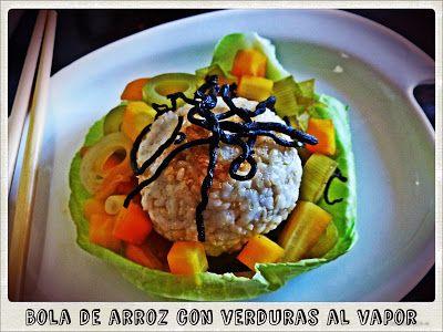 Chefs lunáticas: Bola de arroz con verduras al vapor