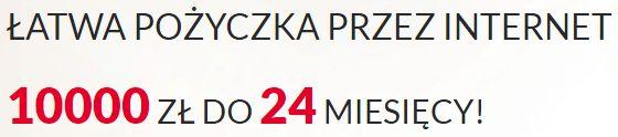 Nowa oferta pożyczki 10 000 zł z dwuletnim terminem spłaty.
