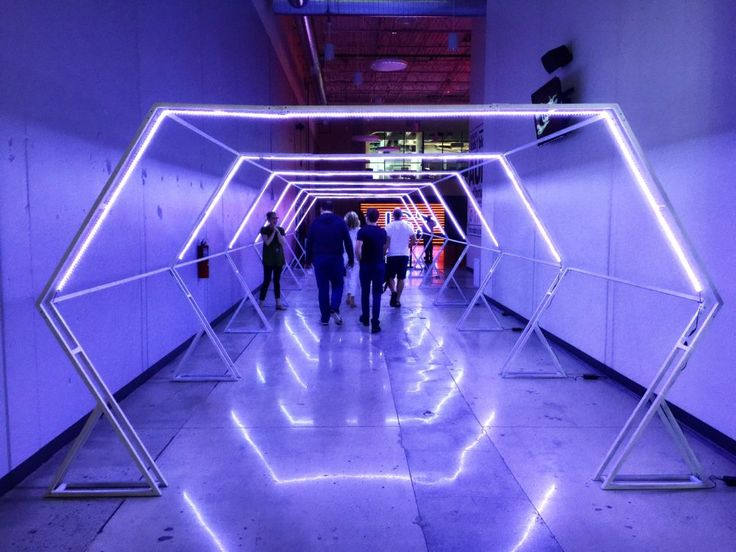 Portable Art Exhibition Walls : Led tunnel from atlanta ga brings us this awesome