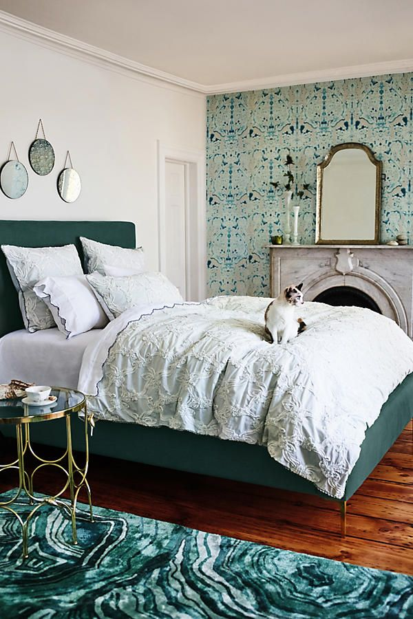 Slide View: 4: Granville Damask Wallpaper anthropologie $400 a roll is a LOT of cashola but it's kinda perfect.