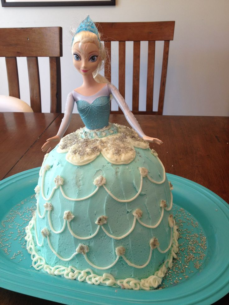 Cake Decorating Pampered Chef : Frozen Elsa doll cake baked in the Pampered Chef batter ...