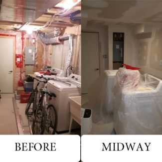 Basement Renovation Before After Photos Detailed InfoThe Ground Level Floor Plan Laundry RoomsLaundry