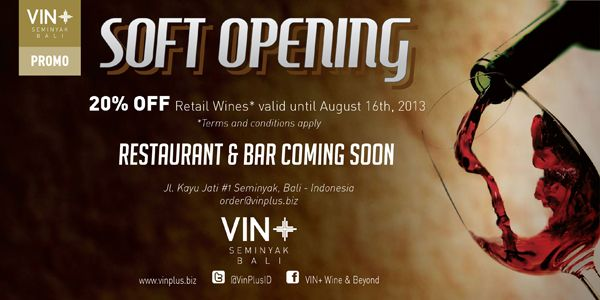 The new VIN+ Seminyak Retail Wine Store has now opened