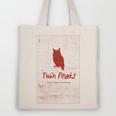 Twin Peaks  Tote Bag by OurbrokenHouse - $18.00
