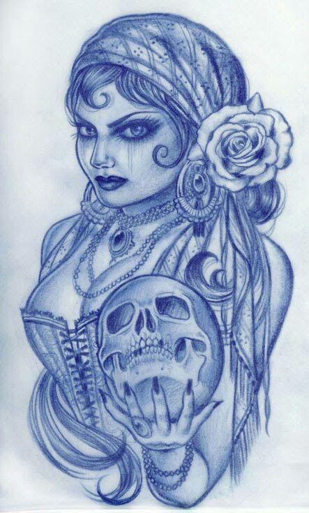 I love how she's holding the skull like a crystal ball.