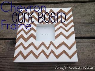 Ashleys Dandelion Wishes: Chevron Cork Board Frame Tutorial. Featured 5-19-13