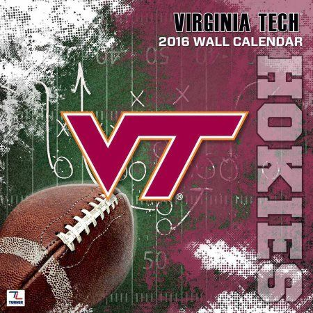 Turner Virginia Tech Hokies 2016 12 inch x 12 inch Team Wall Calendar, Multicolor