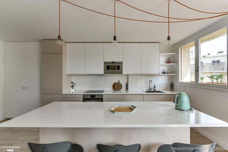 Une cuisine sobre et fonctionnelle repensée par l'agence Transition Interior Design