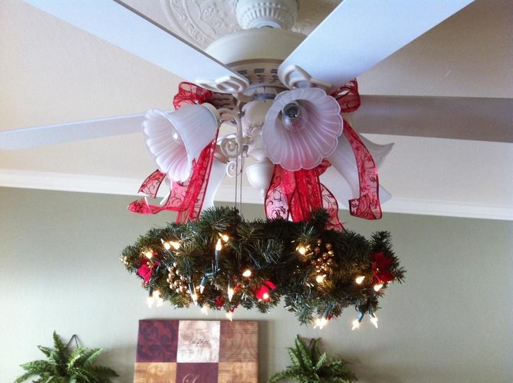 Christmas Wreath For Ceiling Fan Decor