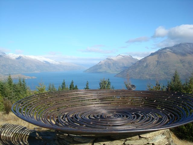 """Basket of Dreams"" sculpture atop Queenstown Hill in New Zealand"