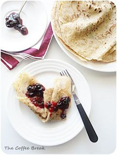 The Coffee Break: Wholemeal Crepes with Quick Summer Fruit Jam